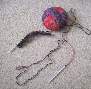 start of lace with liberty wool scarf