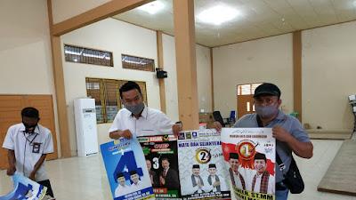 KPU Kota Solok Serahkan Alat Peraga Kampanye (APK)  dan Bahan Kampanye (BK) Kepada 4 Paslon
