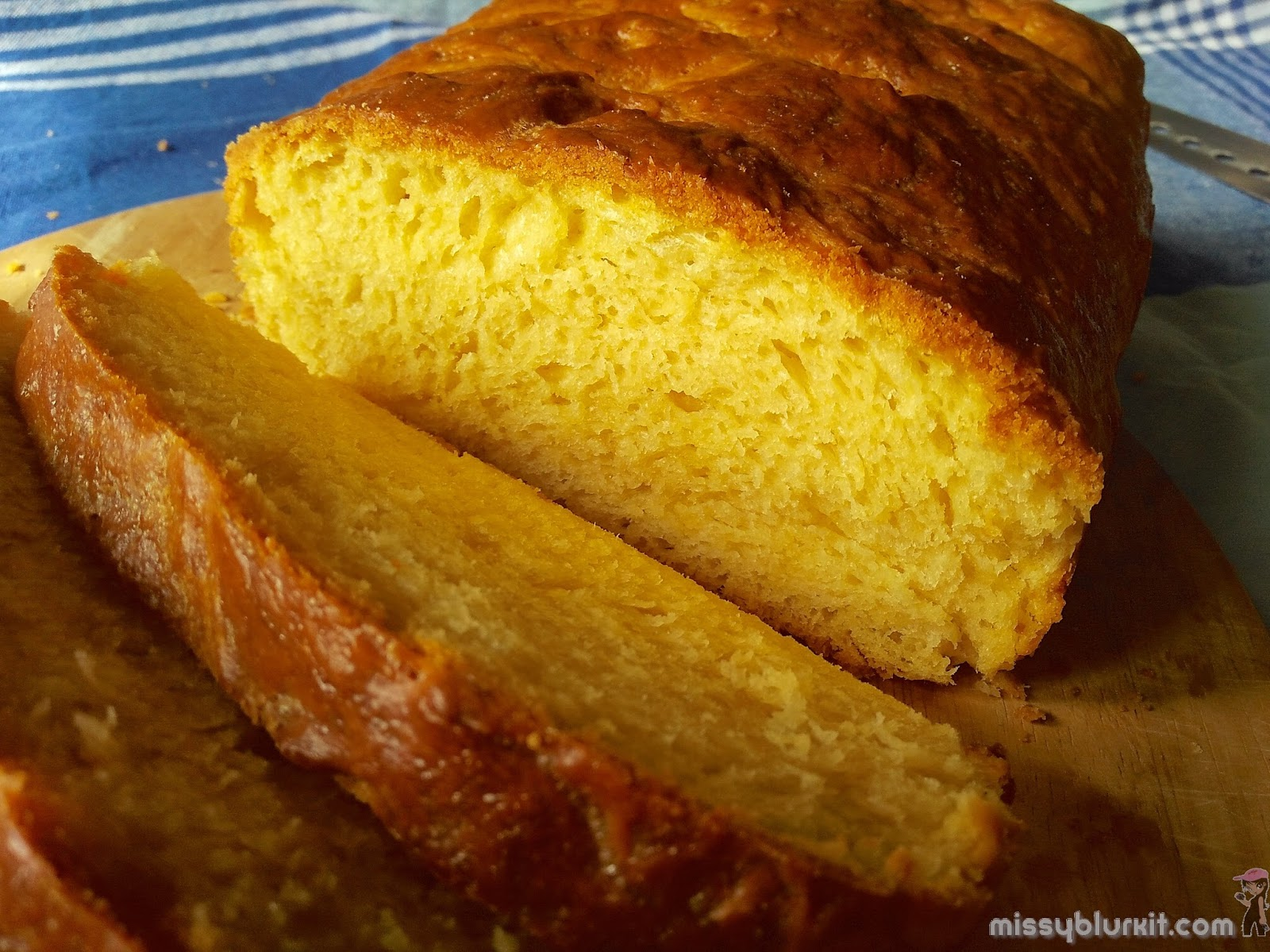 Freshly baked brioche for breakfast. Golden in colour from organic unbleached flour and brown sugar.
