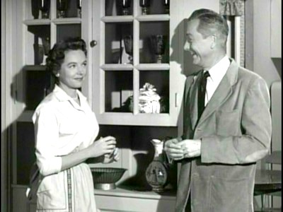 "Jane Wyatt as Margaret Anderson in ""Father Knows Best"" Wearing Shirtwaist Dress and Apron"