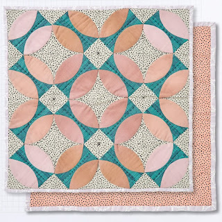 Trenton block mini quilt hand piecing