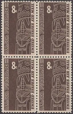 Alaska Purchase - Block Of 4 - 1967
