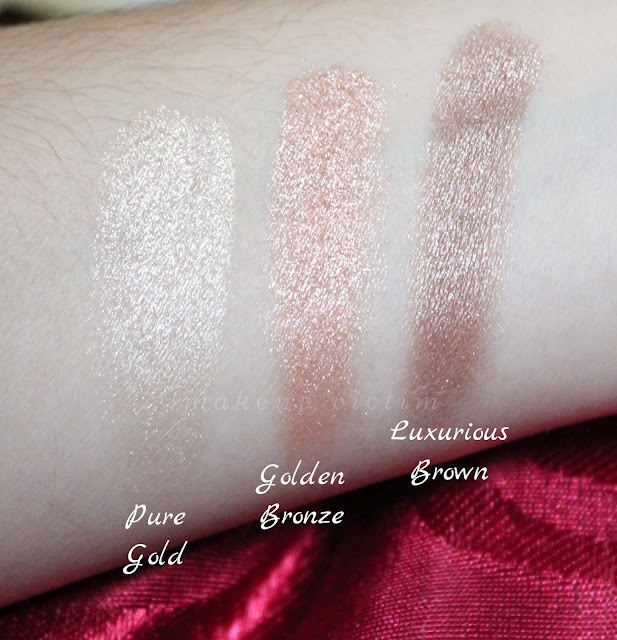 swatches ombretti Red Queen Pupa Milano