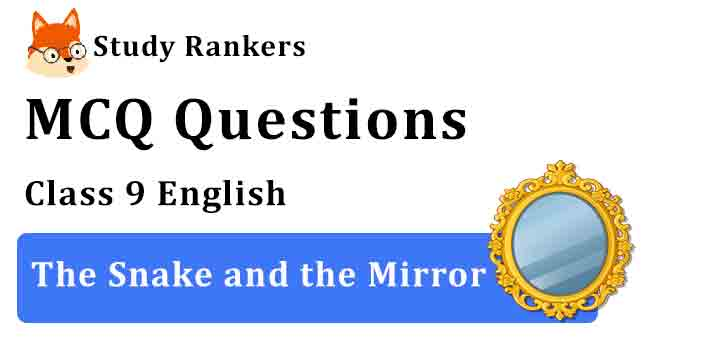 MCQ Questions for Class 9 English Chapter 5 The Snake and the Mirror Beehive