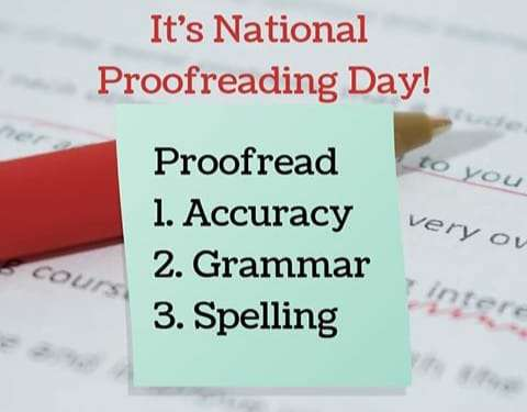 National Proofreading Day Wishes Images download