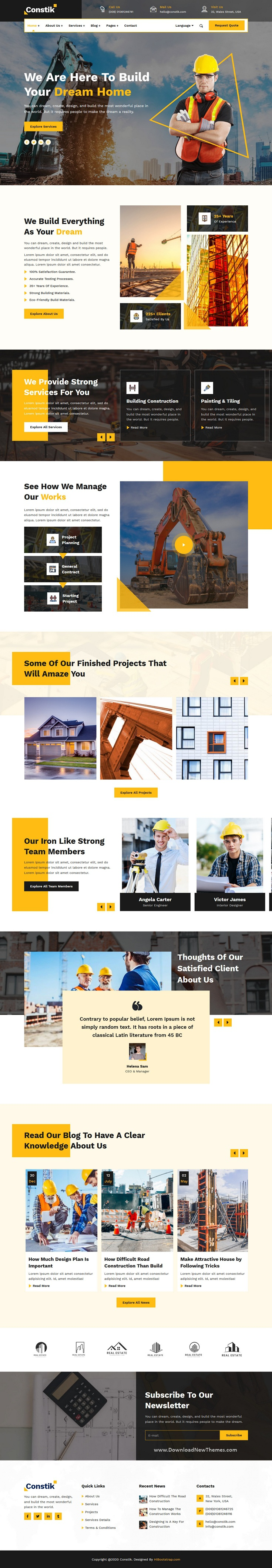 Construction & Building Company Bootstrap Template