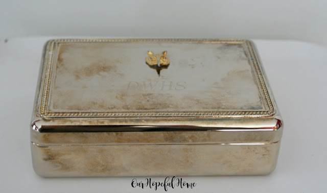 Dunham Woods Horse Show engraved silver jewelry box with fox