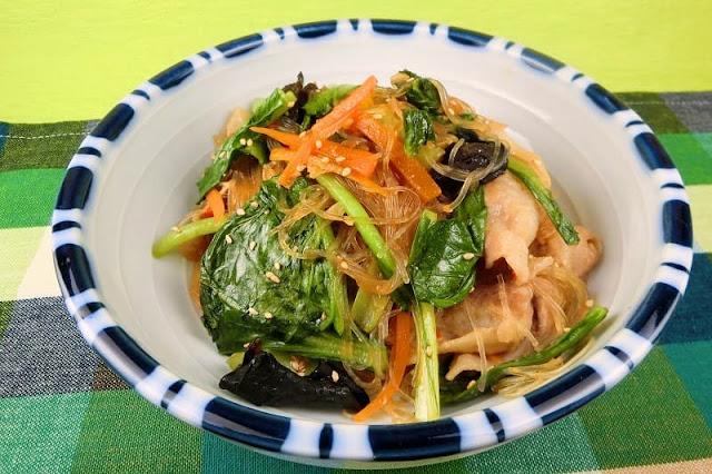 小松菜の豚肉炒め
