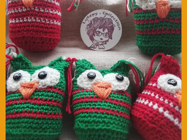Patrón gratis Búho amigurumi para Navidad!