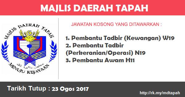 Jawatan Kosong di Majlis Daerah Tapah