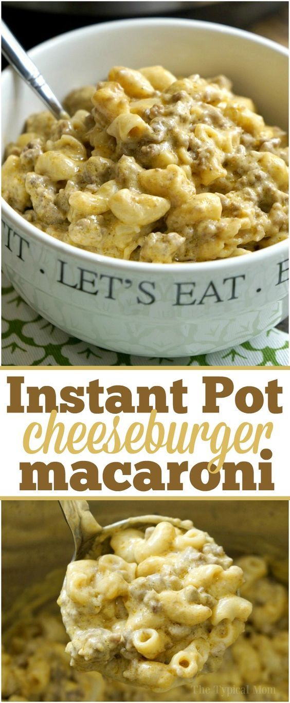 Instant Pot Cheeseburger Macaroni