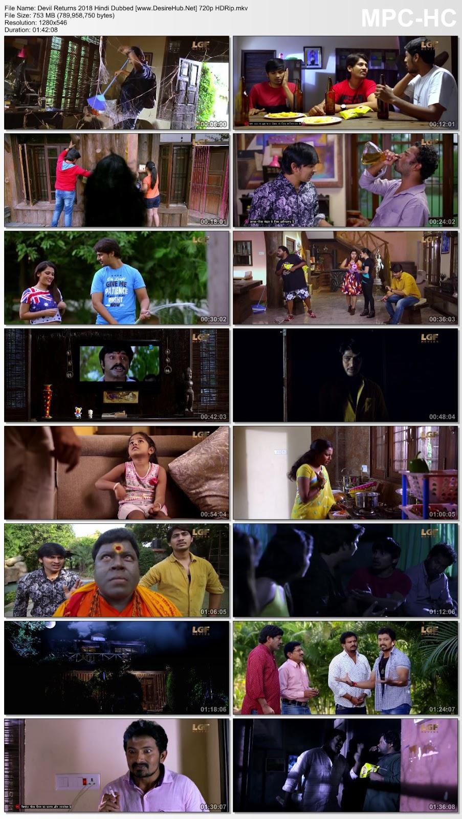 Devil Returns (2018) Hindi Dubbed 720p HDRip 750MB Desirehub