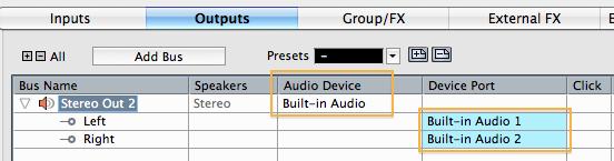 Настройка аудиопортов
