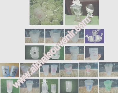 souvenir pernikahan eksklusif, souvenir gelas