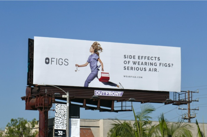 Side effects wearing Figs Serious air billboard