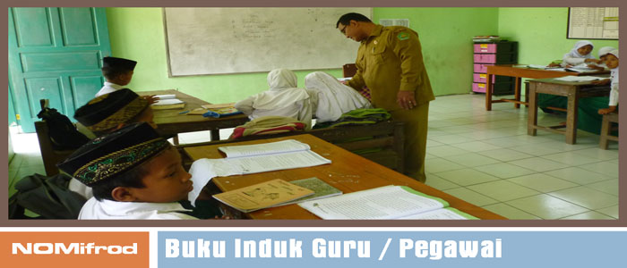 Contoh Lembar Cetak Buku Induk Guru dan Pegawai doc