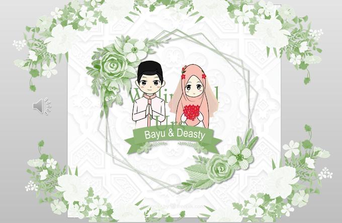 Wedding Invitation 4 Powerpoint Template