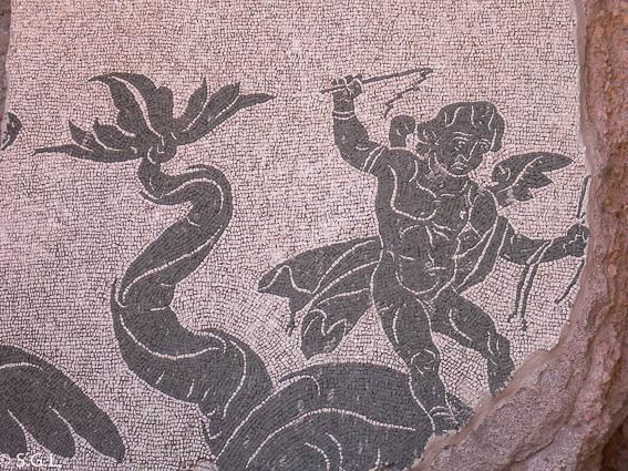 Mosaico de las termas de Caracalla en Roma