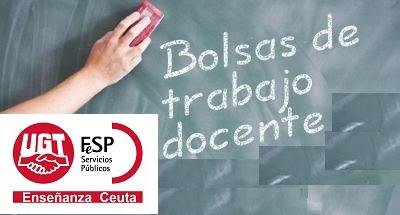 bolsas extraordinarias Secundaria y FP Ceuta, Enseñanza UGT, Blog Enseñanza UGT Ceuta