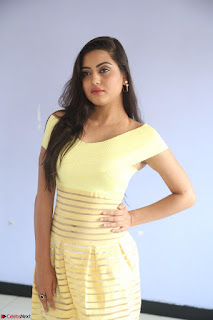 Shipra gaur in V Neck short Yellow Dress ~  059.JPG