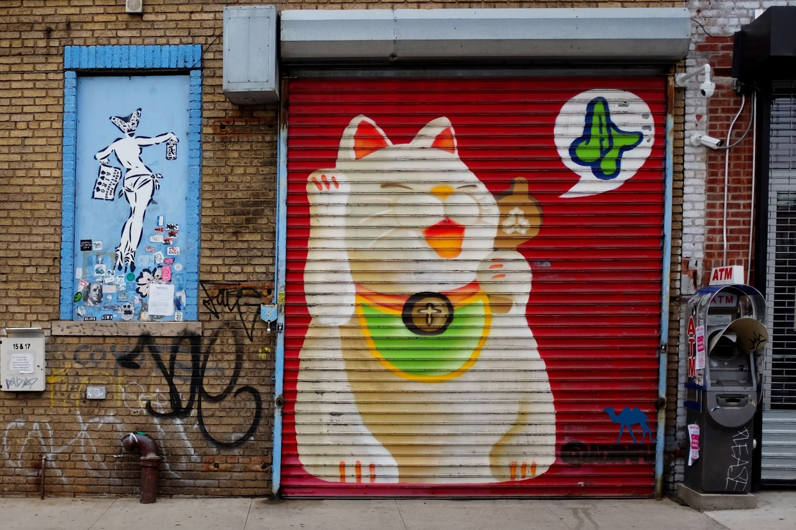 Le Chameau Bleu -Blog Voyage New York City - Lucky Cat Street Art -  Buschwick New York USA