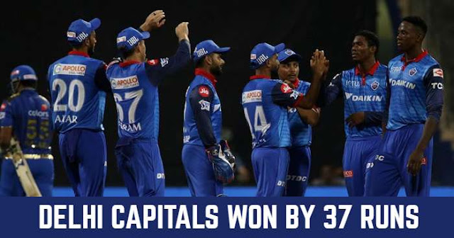 Delhi Capitals won by 37 Runs