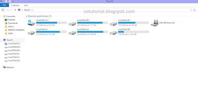 Cara Menghilangkan 6 Folder pada (This PC) Windows 8.1