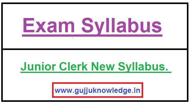 Junior Clerk New Syllabus.