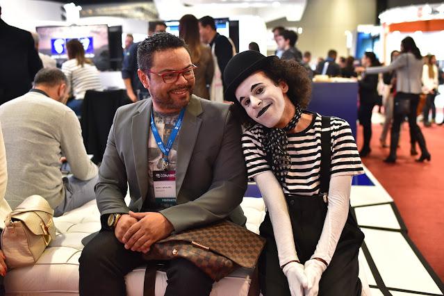 Evento congresso no Transamerica Expo center em São Paulo com atrações de Humor e Circo Produtora