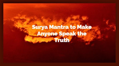 Surya Mantra to Walk on Fire