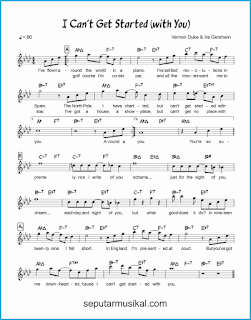 chord i can't get started lagu jazz standar