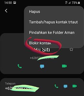 Blokir nomor telepon