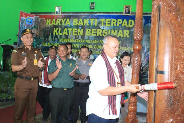 Sekda Kab Klatern Tutup Karya Bhakti Terpadu Klaten Bersinar
