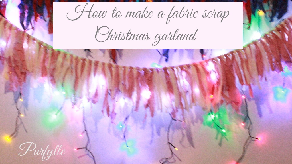 How to make a fabric scrap Christmas garland in 5 easy steps