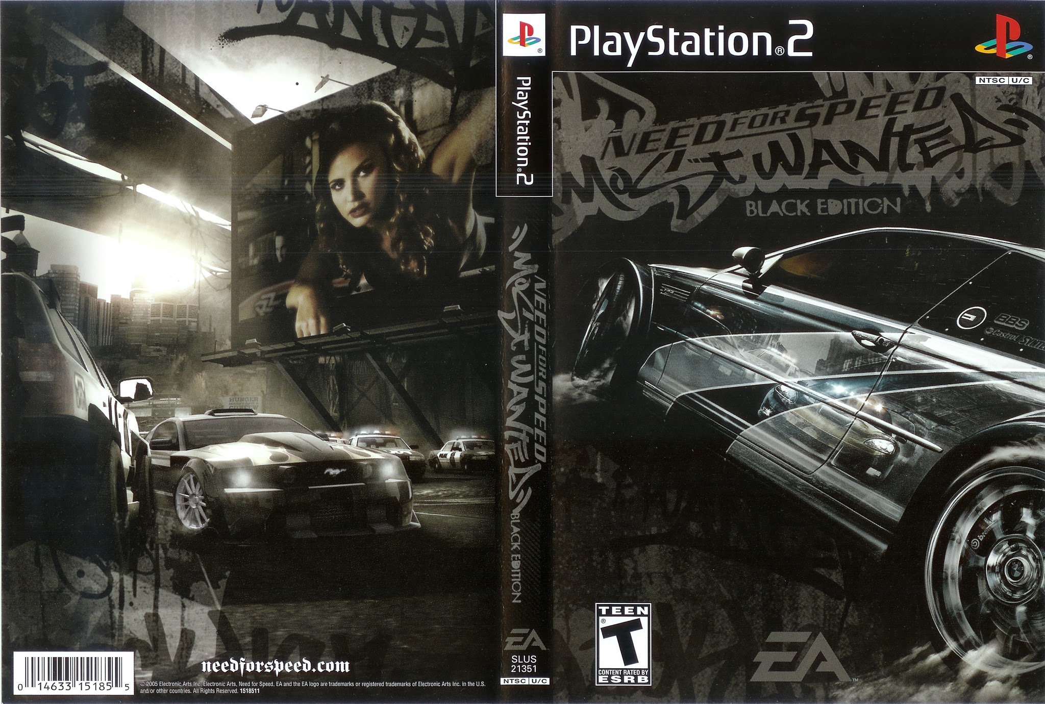 Need For Speed Most Wanted Black Edition Playstation 2 Ultra Capas