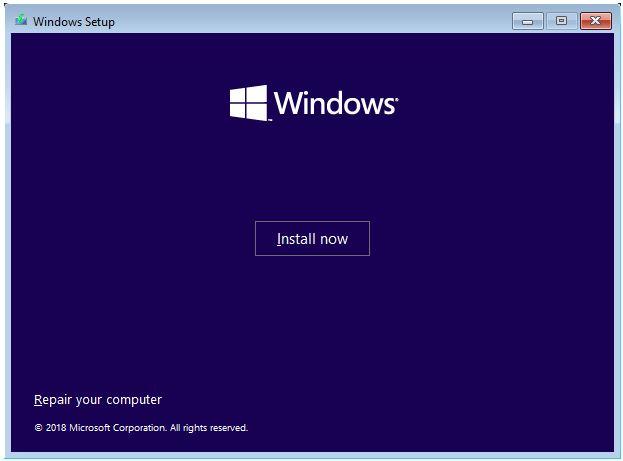 Uninstall OS Windows