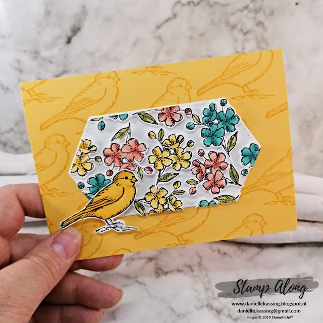 Stampin' Up! Free as a bird floating card
