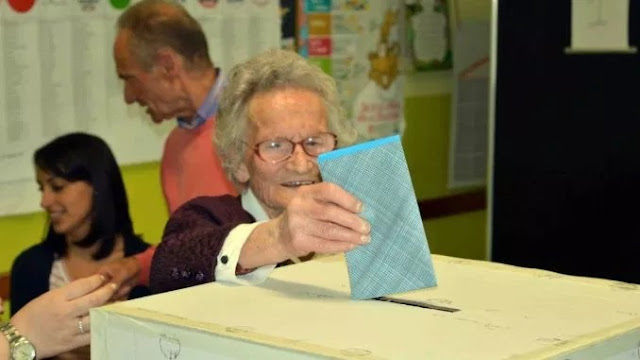 108-year old Italian woman, Luisa Zappitelli doesn't missed a single voting