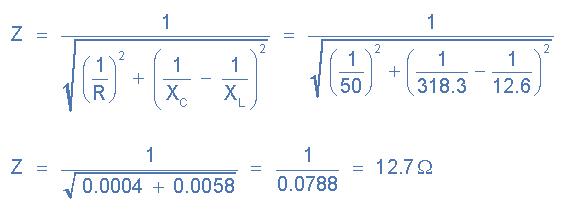 Circuito Z : Paralelo circuito rlc y análisis del