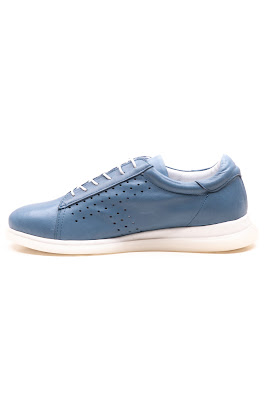 hakiki deri mavi bayan ayakkabı