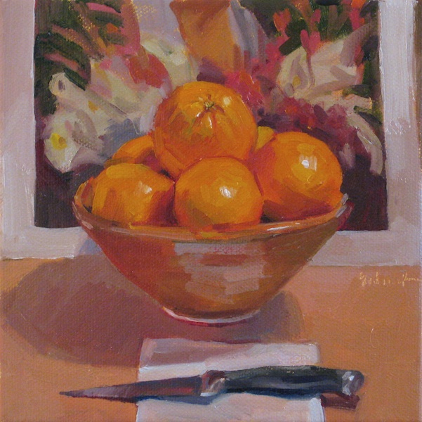 Sedwick Studio Citrus Offering Still Life Oil Painting Fruit Bowl