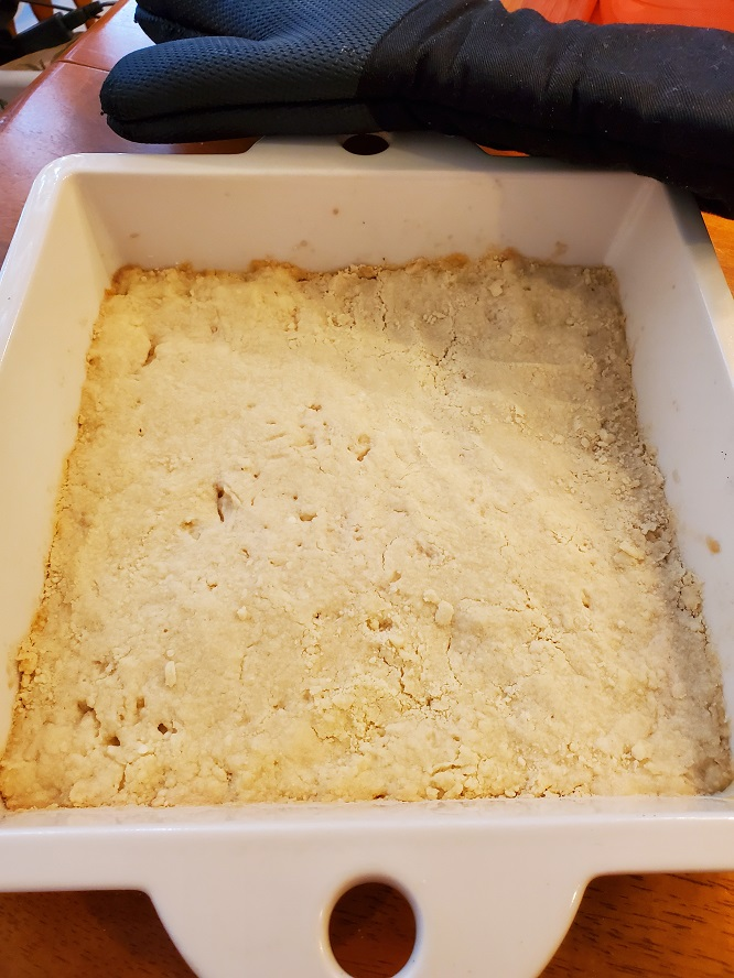 this is a shortbread cookie crust for lemon bars