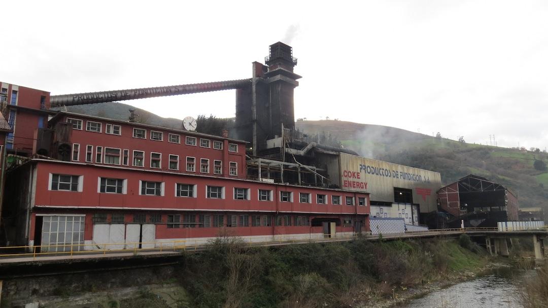 La fábrica en Kastrexana en enero de 2013