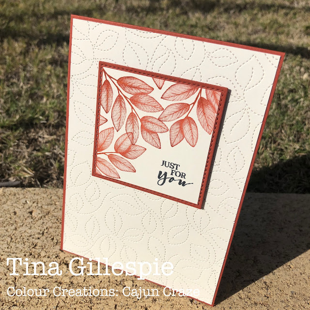 scissorspapercard, Stampin' Up! Colour Creations, Forever Fern, Sweet Strawberry, Stitched Greenery Die, Stitched Shapes Dies