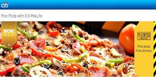 Citibank Credit Card Free Yellow Cab Pizza, promo, promotion, credit card promo