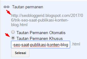Permalink URL SEO