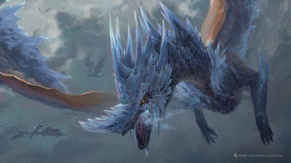 Joshua Raphael artstation arte ilustrações fantasia games dragões criaturas yugioh