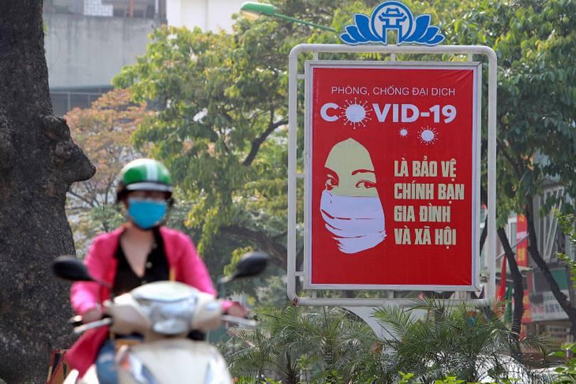 Covid-19 . (Photo by Hau Dinh)