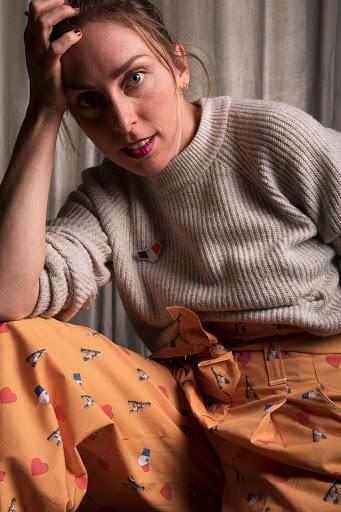 """Un Pantalon """"Culotté"""" pour Fé-Tavie... (Patron : modèle n°111C du BurdaStyle 06/2015) par m Gg++ et Fé-Tavie - Photographe : Damien Etcheverry"""