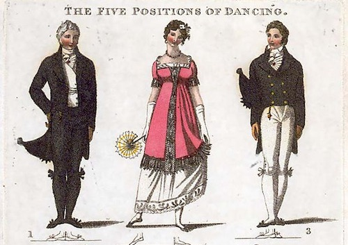 Five Positions of Dancing, Wilson, 1811